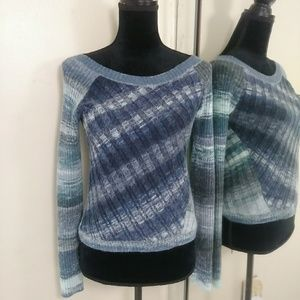 Free People Cable Knit Sweater Top Blouse Small